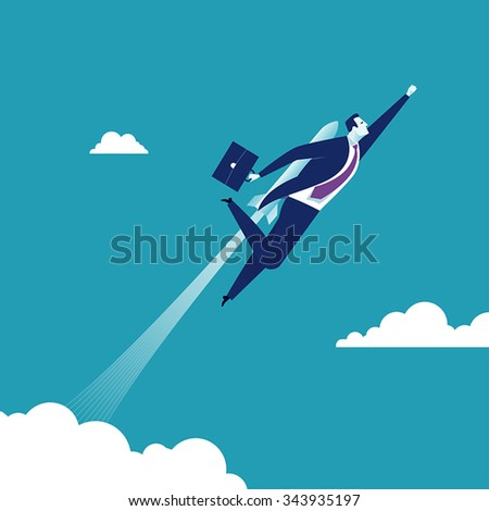 To the Sky. Concept business illustration. - stock vector
