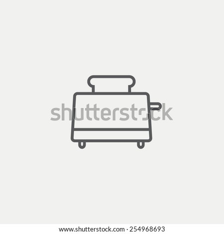 Toaster icon - stock vector