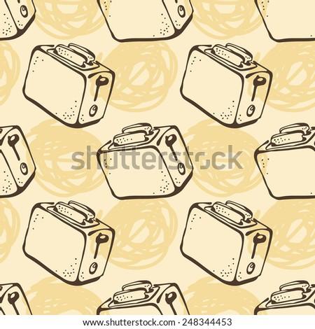 Toaster pattern - stock vector