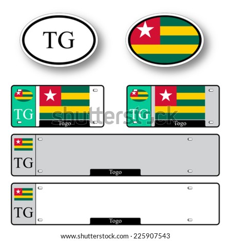 togo auto set against white background, abstract vector art illustration, image contains transparency - stock vector