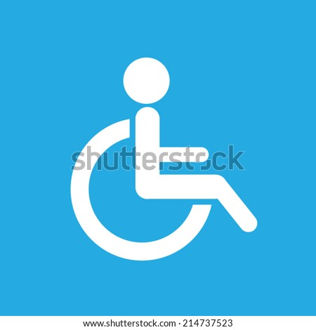 Toilet disabled icon. Vector illustration eps10. - stock vector