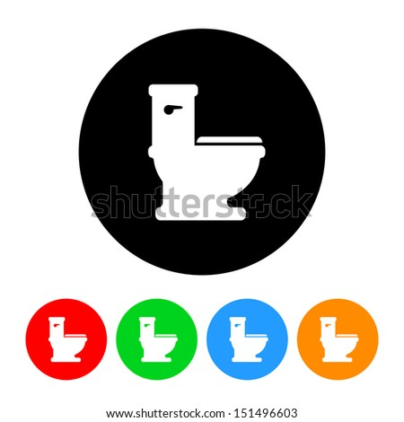 Toilet Icon - stock vector