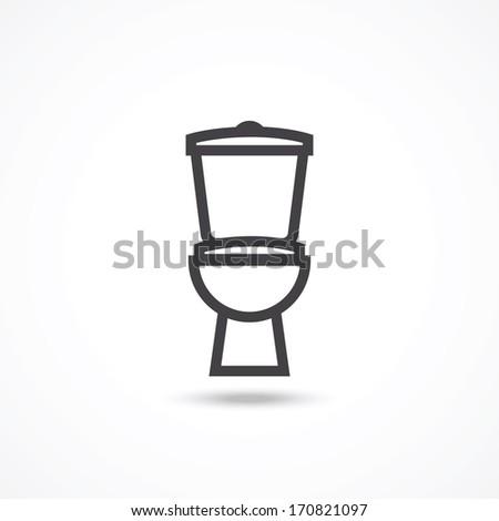Toilet Icon - stock vector