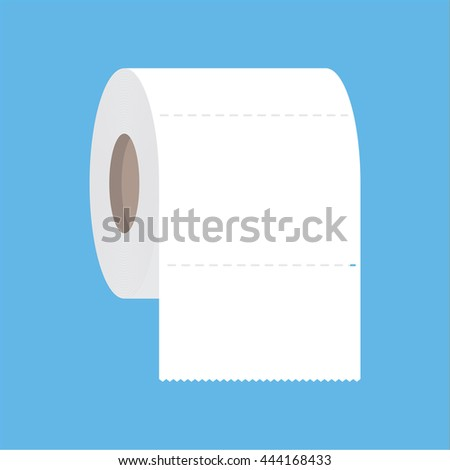 Toilet paper flat icon. Modern flat icon vector - stock vector