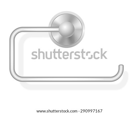 toilet paper holder vector illustration isolated on white background - stock vector