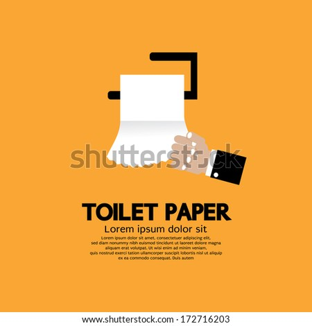 Toilet Paper Vector Illustration - stock vector