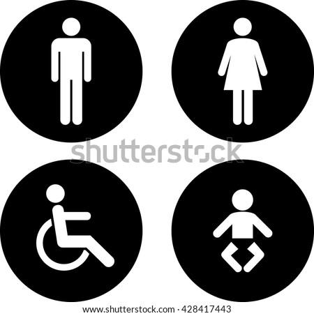 Toilet sign.vector - stock vector