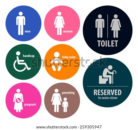 Toilet Signs Restroom Signboards - stock vector