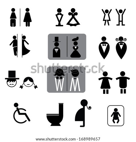 Toilet Sign Stock Photos, Images, & Pictures | Shutterstock