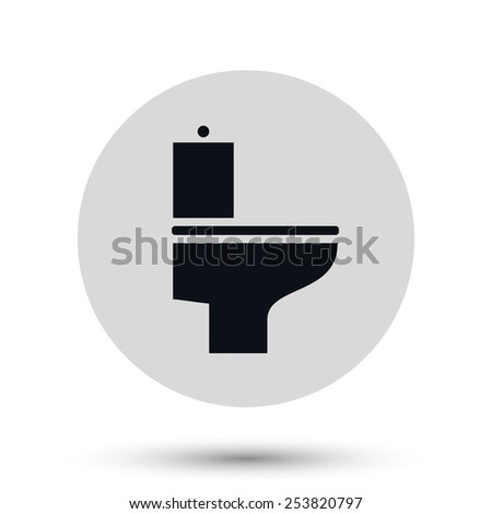 Toilet vector Icon WC bathroom - stock vector
