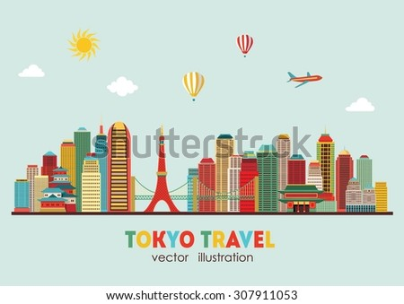 Tokyo skyline. Vector illustration - stock vector