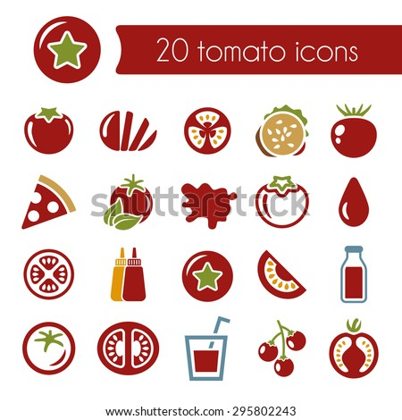 tomato icons - stock vector