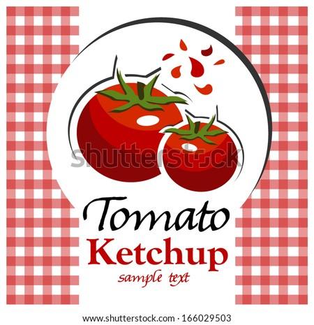 tomato ketchup - stock vector