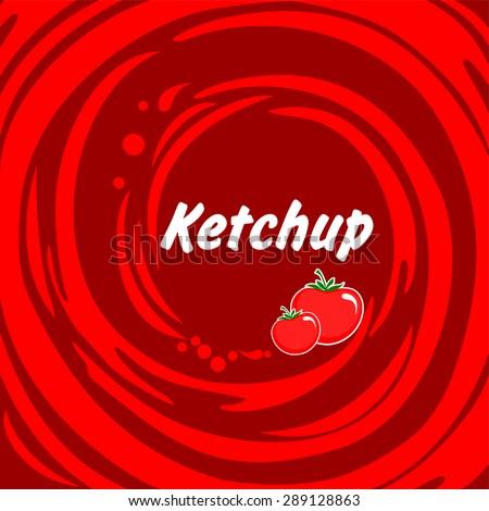 Tomato ketchup. Vector Illustration - stock vector