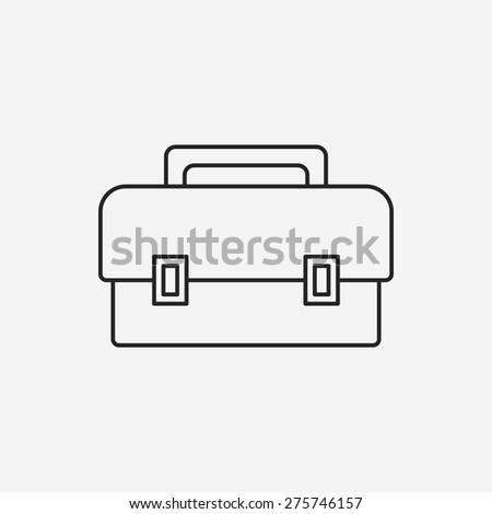 tool box line icon - stock vector