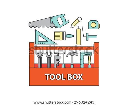 tool box , vector - stock vector
