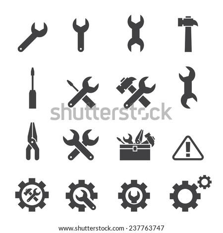 tool icon set - stock vector
