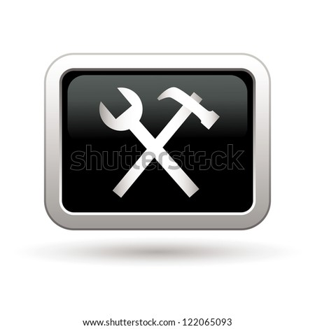 Tool icon. Vector illustration - stock vector