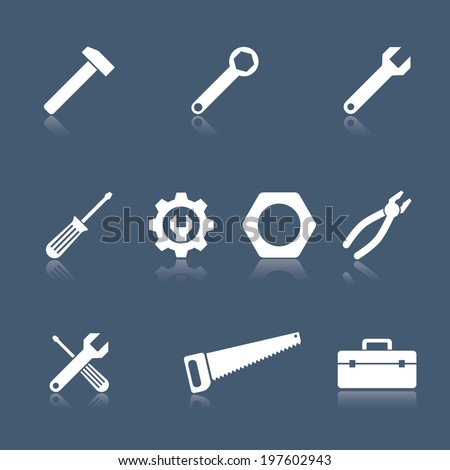 tool icons vector set. eps10 - stock vector
