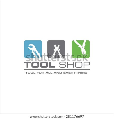 Tool shop logo - stock vector