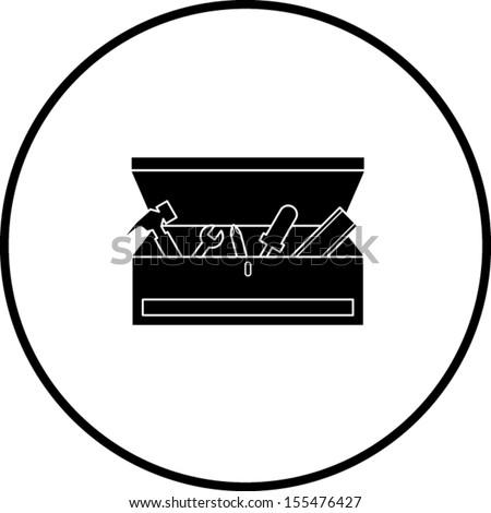 toolbox symbol - stock vector