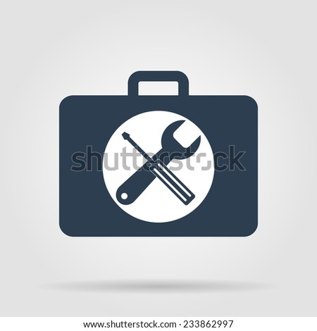 Toolbox vector icon. Flat vector illustrator Eps - stock vector