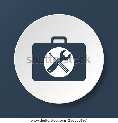 Toolbox vector icon. Flat vector illustrator Eps - stock vector