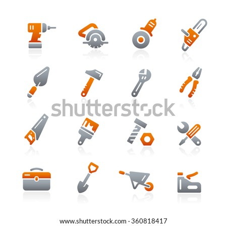 Tools Icons // Graphite Series - stock vector