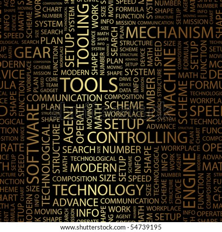TOOLS. Word collage. Vector illustration. - stock vector
