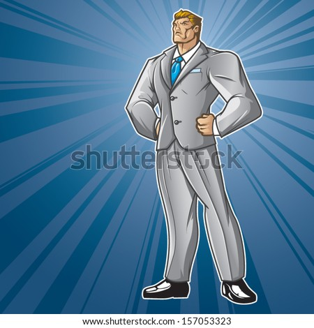 Toon Hero Business Man - stock vector
