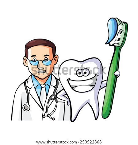 Tooth Doctor - stock vector