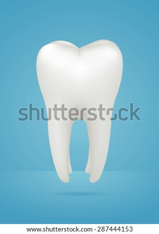 Tooth icon. Vector illustration - stock vector
