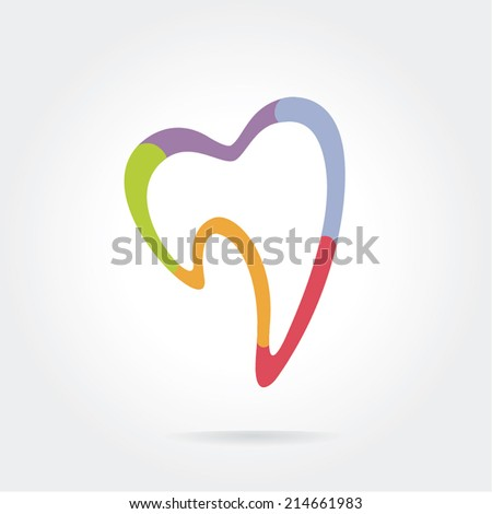 Tooth vector icon for dentists business - stock vector