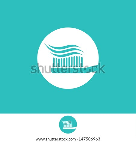 Toothbrush sign - vector illustration - stock vector