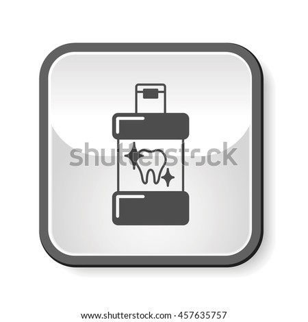 toothpaste icon - stock vector