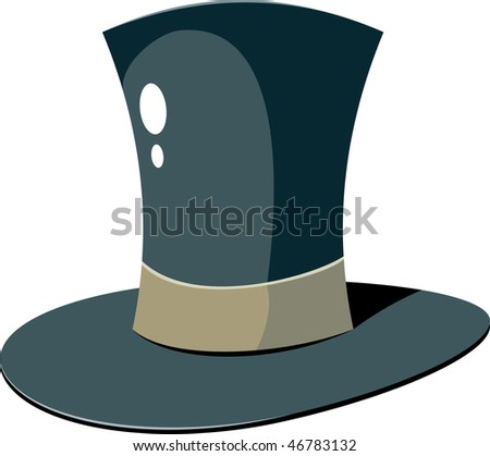 Top Hat over white - stock vector