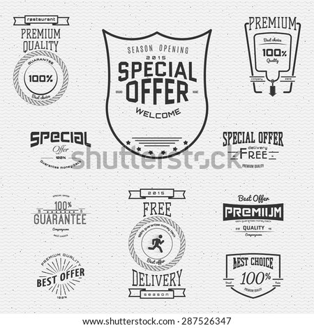 Top quality badges logos and labels for any use. Company corporate logo element design - stock vector