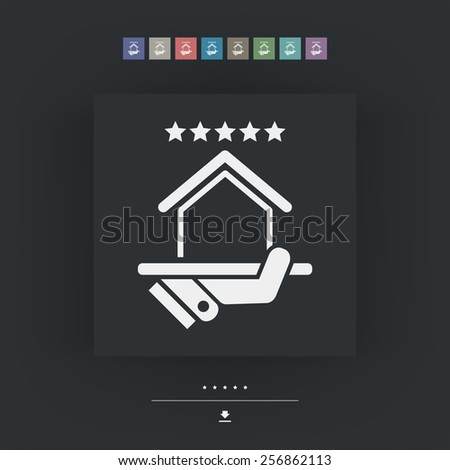 Top rating icon. House. - stock vector