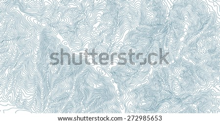 Topographic Map Abstract - stock vector