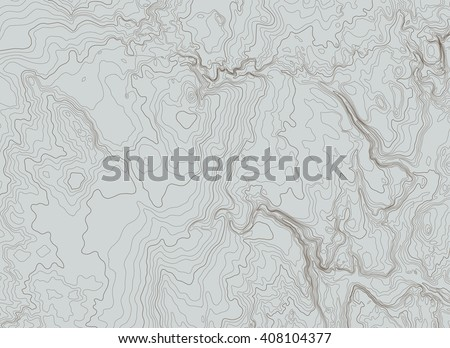 topographic map background concept - stock vector