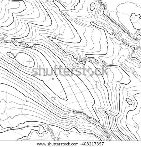 Topographic map background concept with space for your copy, elevation map. - stock vector