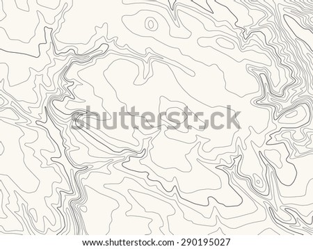 Topographic map, vector illustration, light brown background - stock vector