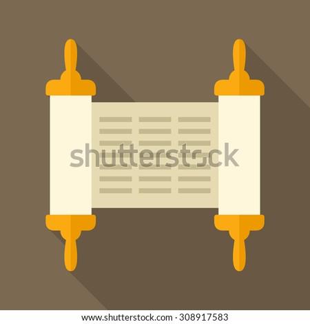 Torah scroll icon - stock vector