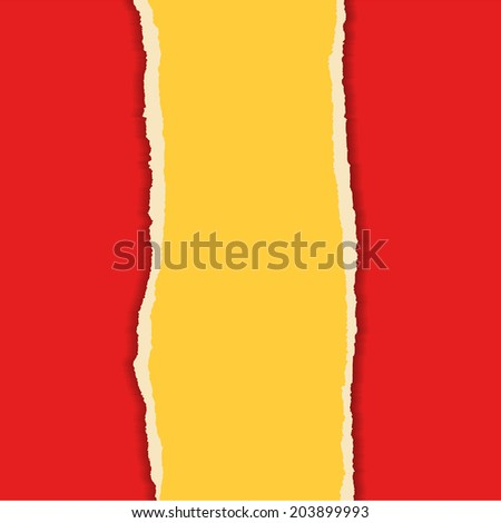 Torn paper in flat style - stock vector