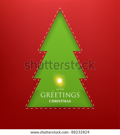 Torn paper in the shape of Christmas Snowflake. Vector Illustration. - stock vector