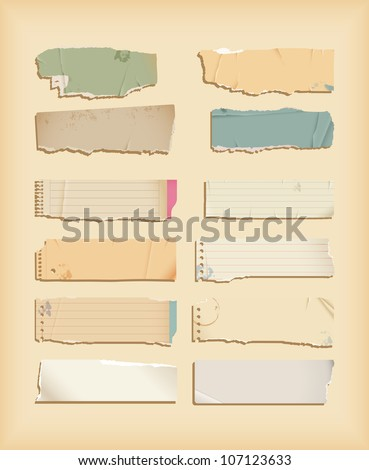 Torn paper - objects - stock vector