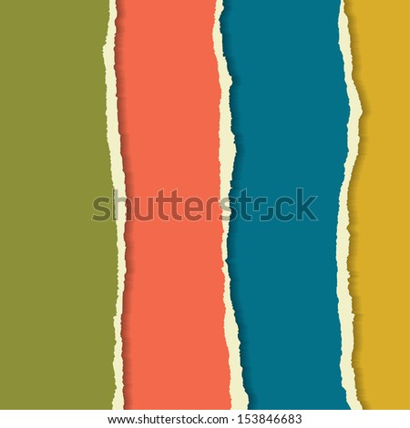 Torn paper set. Background for your business presentation. - stock vector