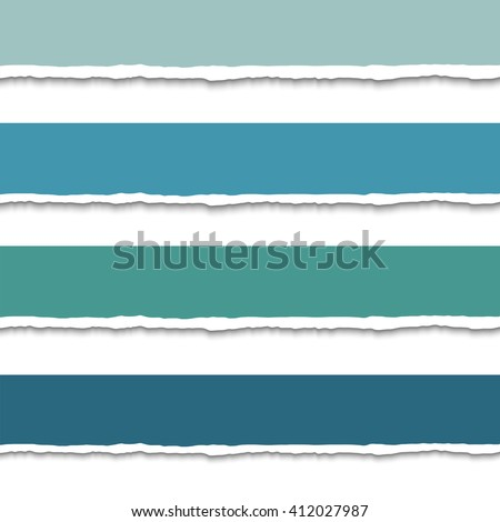 Torn paper with ripped edges, set of vector colorful torn paper web banners with space for text. Torn paper design template for infographics and websites. Pieces of torn paper - stock vector