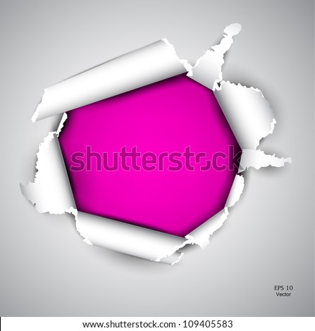Torn paper with space for text - stock vector