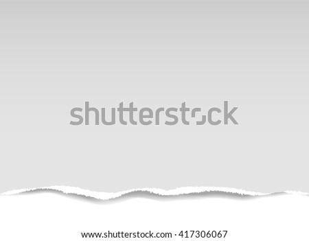 Torn piece of paper - stock vector